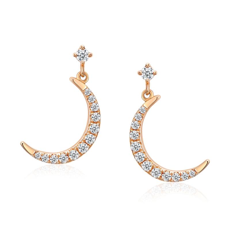 闪耀性感 - 18K金钻石耳环