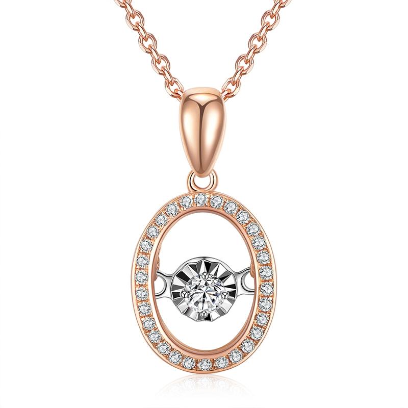 圆舞灵动 - 18K金钻石锁骨套链